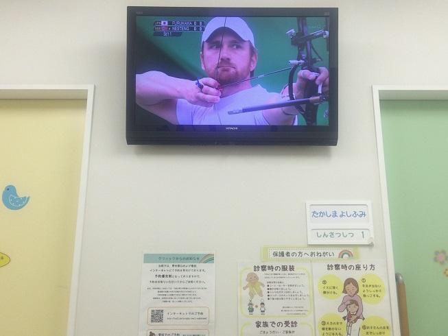 店内に流れるオリンピック映像