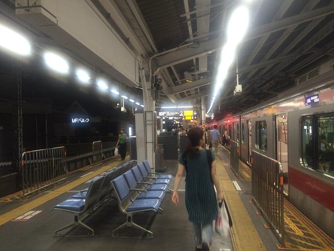 東急東横線横浜方面ホーム