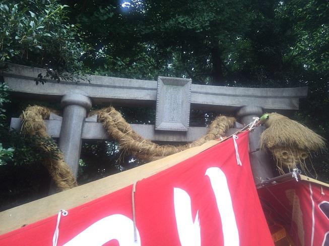 奥沢大蛇神社入口