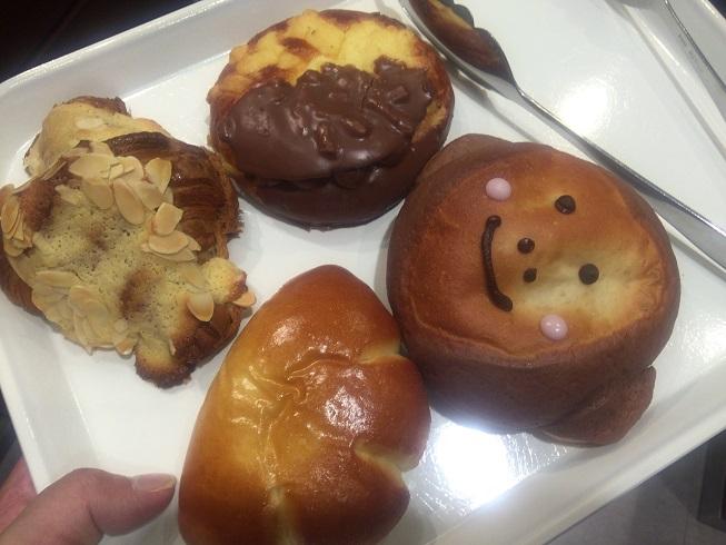 美味しいそうな4種類のパン