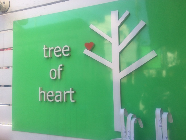 tree of heartの看板