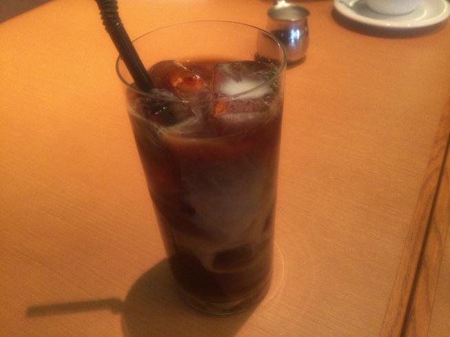 ビアンキカフェのアイスコーヒー