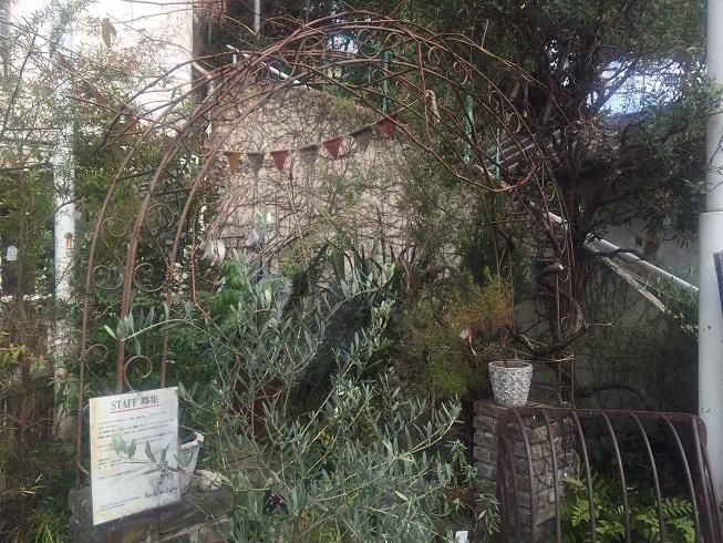 ブリキのジョーロのお庭のアーチ