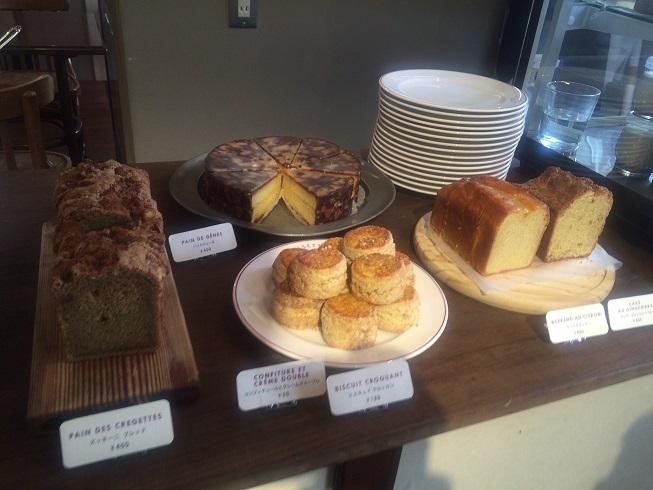 スコーン、ケーキ、パン