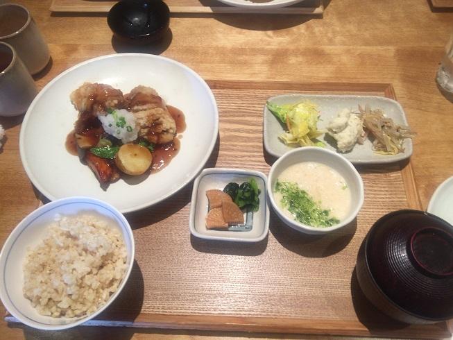 鮎魚女と野菜のおろしあんかけランチ