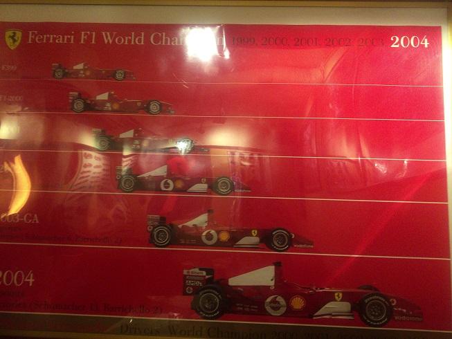 F1フェラーリの全盛期のポスター