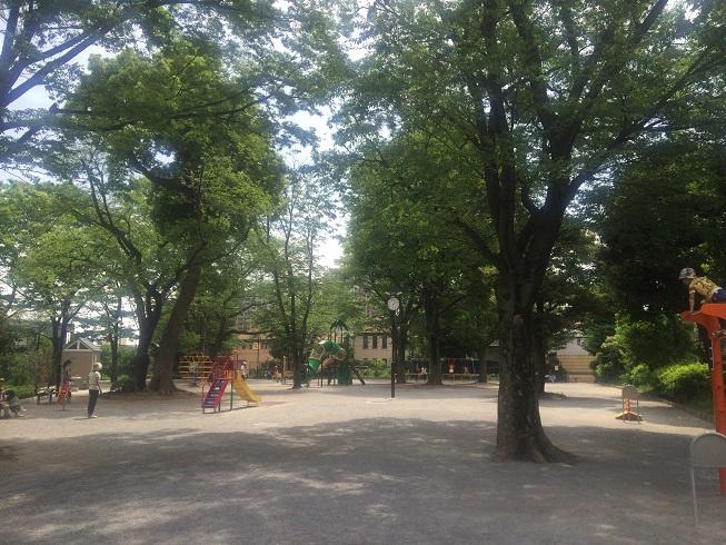遊具有りの衾町公園内部