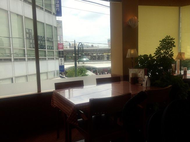 マイアミガーデンから見える自由が丘駅