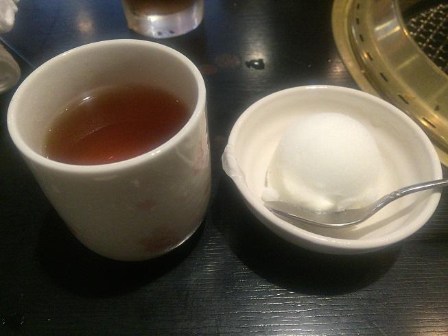 ほうじ茶とレモンシャーベット