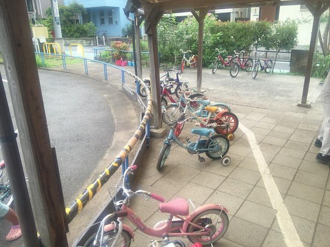 色んなサイズの自転車