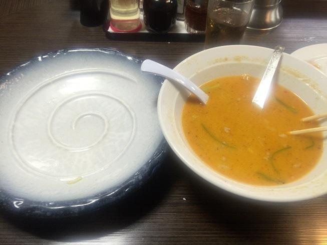 野菜坦々つけ麺完食