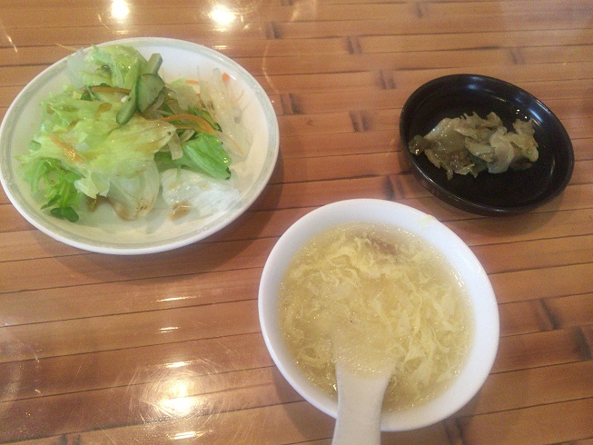 スープ・サラダ・ザーサイ