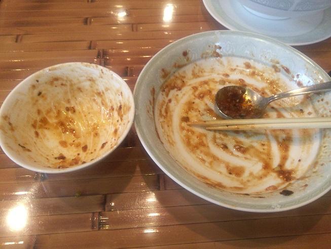 麻婆豆腐完食