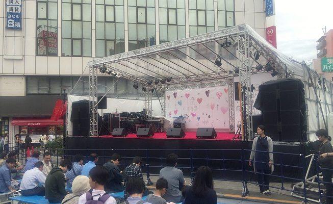 自由ケ丘女神祭り2016駅前メインステージ