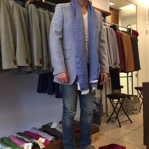 菅沼社長にジャケットとストールをコーデしてもらったyu-hiro