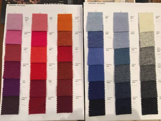 カラーパターンの一覧表