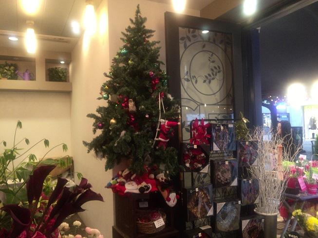 モンソーフルール店内にあるクリスマスツリー