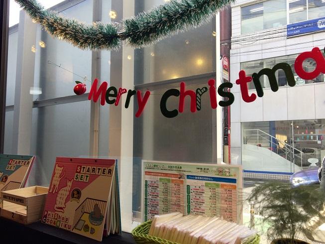 店内一部のクリスマスの飾りつけ