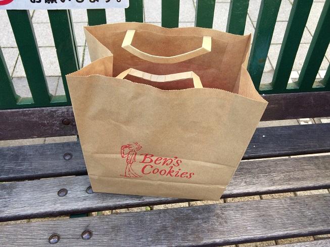 ベンズクッキーの紙袋