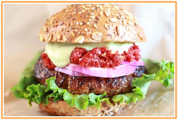 ベアバーガーのハンバーガー