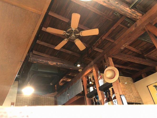 ヒラクヤ自由が丘の天井に設置されたシーリングファン