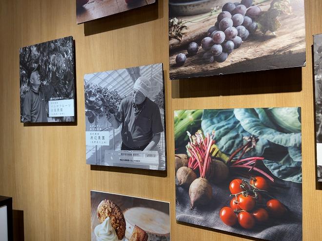 契約農場や契約農家から直接仕入れていることを表している店内オブジェ