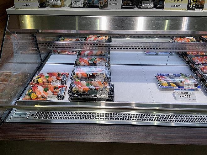 自由が丘フードショー内にある京樽のお寿司