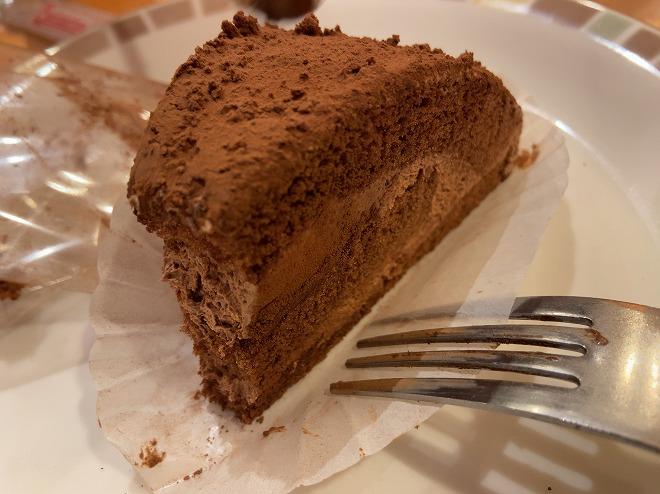サイゼリアのチョコレートケーキ