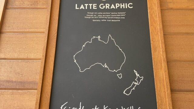 ラテグラフィック自由が丘店入り口にあるオーストラリアの地図