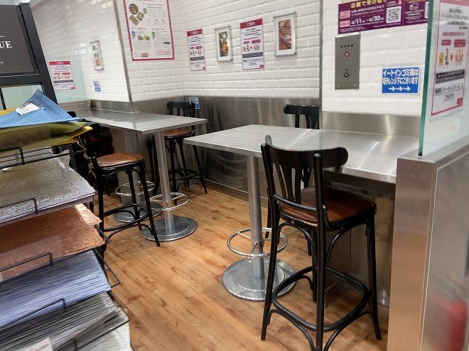 成城石井自由が丘店のカフェコーナー