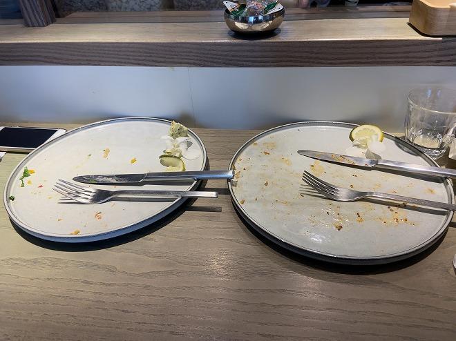 私とかみさんの完食したお皿二枚
