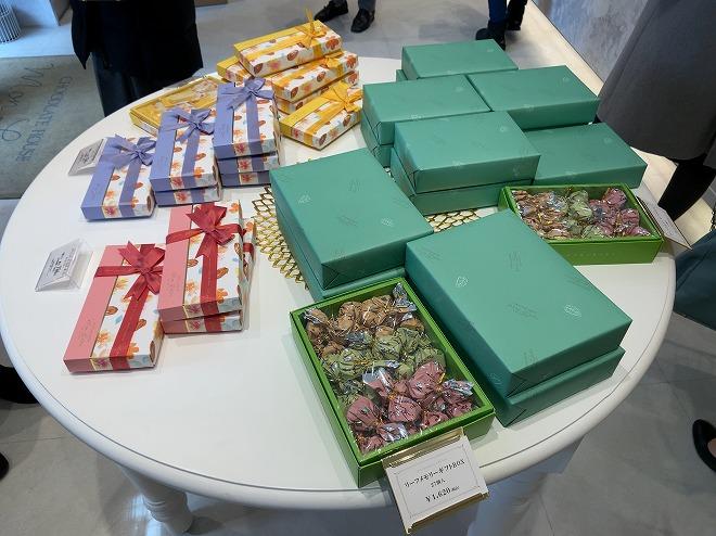 2020年2月バレンタイン用の包装をしたモンロワールのチョコレート